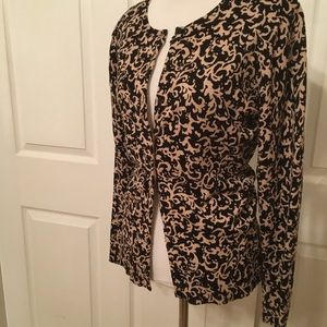 Karen Scott tan and black classy cardigan